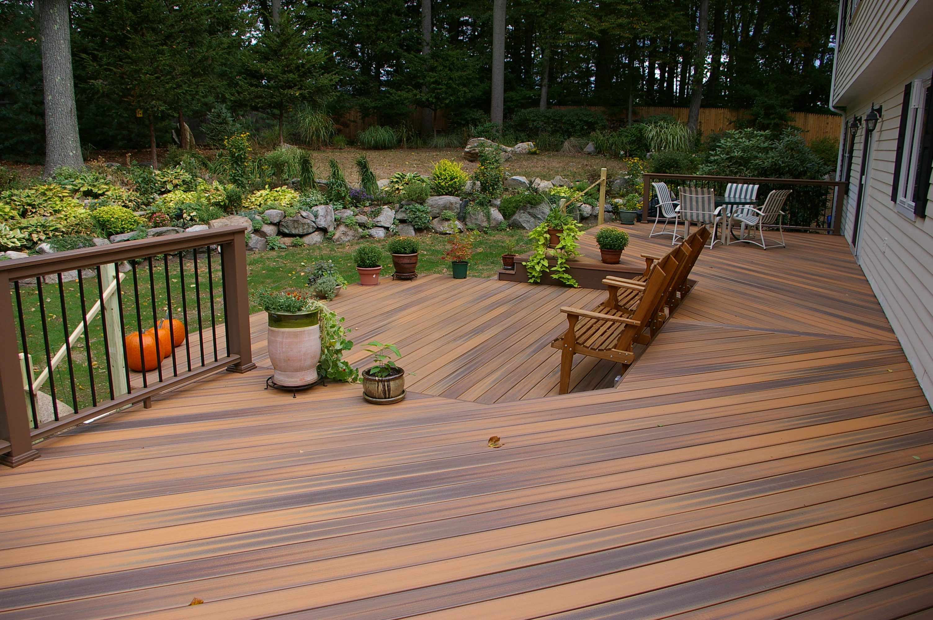 Great new pvc decking by fiberon azek and timber tech for Timber decking materials